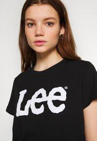 Lee - LOGO TEE - T-shirts med print - black - 3