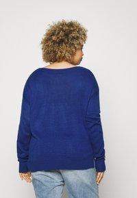 VILA CURVE - VILOU - Sweter - mazarine blue - 2