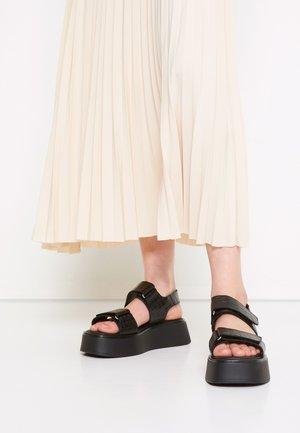 COURTNEY - Platform sandals - black