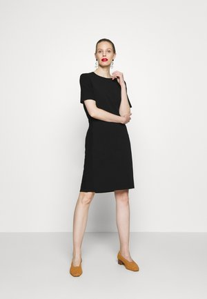 HEAVY DRESS SHORT SLEEVE - Jumper dress - pure black