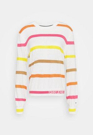 STRIPE - Pullover - ecru/multi