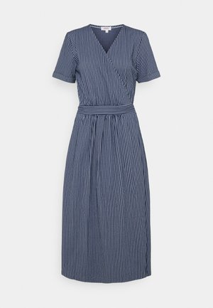 Day dress - dark blue stripes