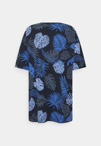 Shine Original - PALM O NECK TEE - Print T-shirt - navy - 1