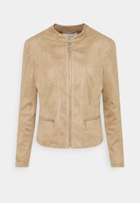 Freequent - Faux leather jacket - beige sand - 0