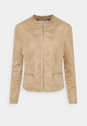 Faux leather jacket - beige sand