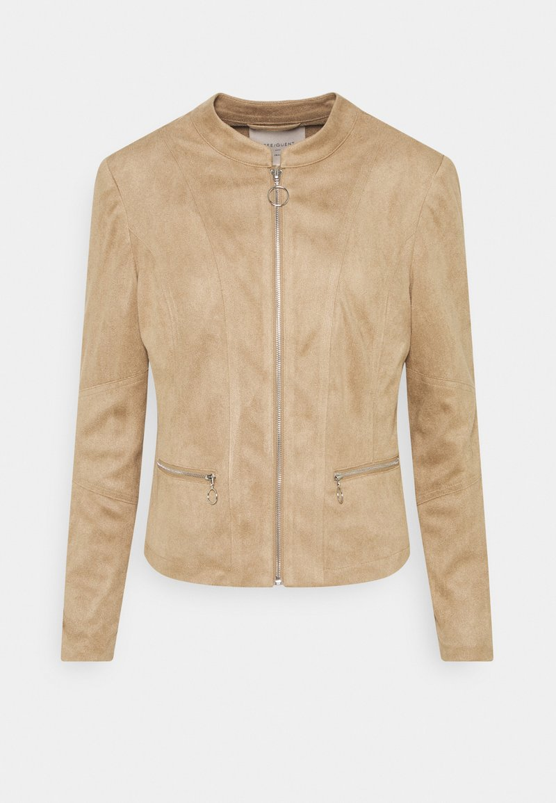 Freequent - Faux leather jacket - beige sand