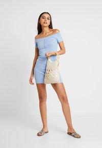 Miss Selfridge - BUTTON DRESS - Etuikjoler - blue - 2