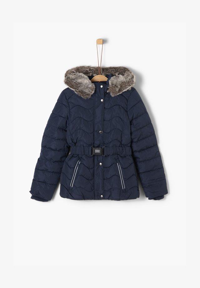 STEPPMANTEL MIT FAKE FUR - Winter jacket - dark blue