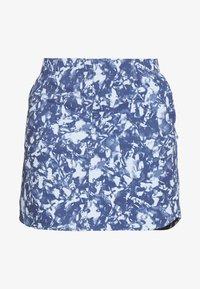 Under Armour - LINKS PRINTED SKORT - Sportovní sukně - blue frost/mod gray/blue ink - 3