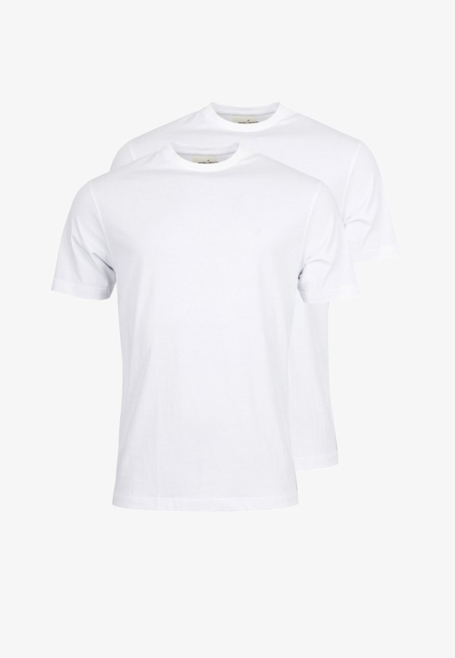 2 PACK - Basic T-shirt - weiss