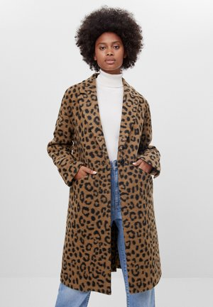 MIT ANIMALPRINT - Classic coat - brown