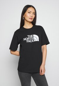 The North Face - EASY TEE - T-shirts med print - black - 0
