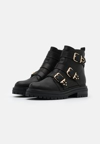 Shoe The Bear - FRANKA STRAPPY - Cowboy/biker ankle boot - black - 2