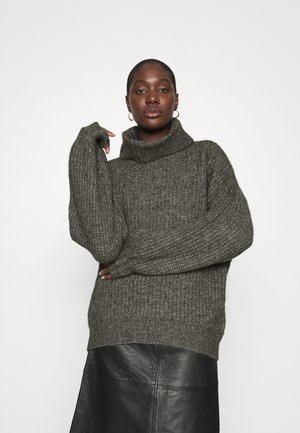 COSY OVERSIZED TURTLE NECK - Jumper - dark grey