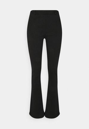 OBJSAVA NICKY PANTS - Trousers - black