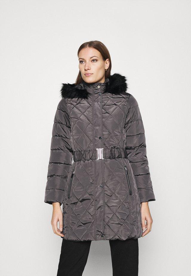 LONG PUFFER COAT - Abrigo de invierno - charcoal