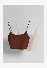 brown/light pink