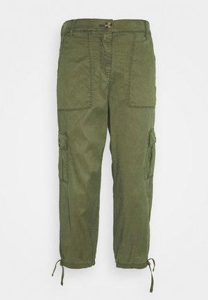 CROPPED  - Trousers - khaki