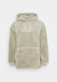 Weekday - ALEX PILE HOODIE UNISEX - Fleece jumper - sage green - 0