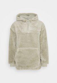 ALEX PILE HOODIE UNISEX - Fleece jumper - sage green