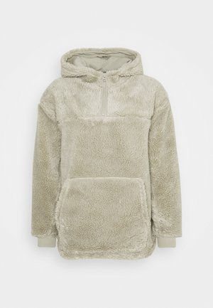 ALEX PILE HOODIE UNISEX - Fleece jumper - sage green