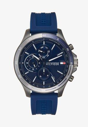 BANK - Uhr - blau