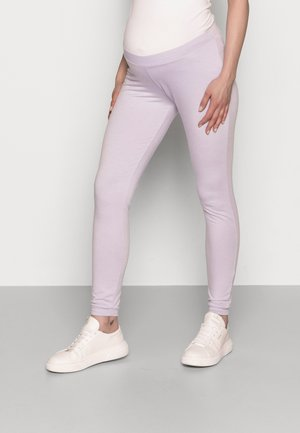 PCMRELAX - Tracksuit bottoms - purple heather melange
