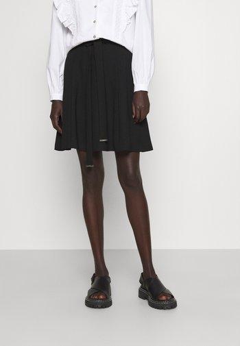 RISIMA FLUENT - Mini skirt - black