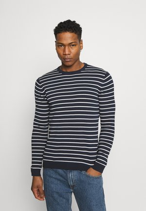 ONSALEX STRIPED CREW NECK - Trui - dark navy