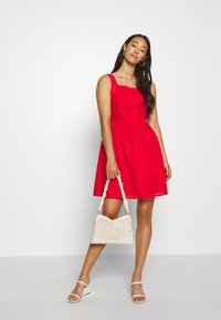 Superdry - BLAIRE BRODERIE DRESS - Day dress - apple red - 1