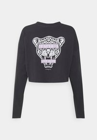 Noisy May - NMFRIDA SEMI CROPPED - Long sleeved top - obsidian/front - 1