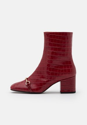 Classic ankle boots - cherry