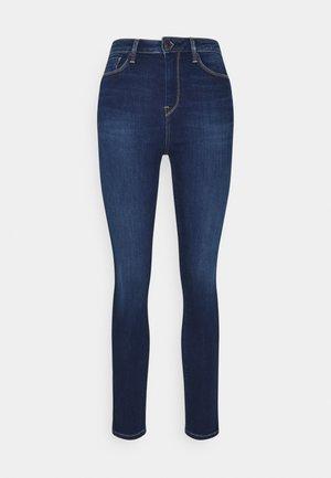 DION ZIP - Jeans Skinny Fit - dark used powerflex