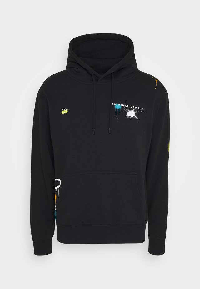 GRAFITTI DAMAGE HOOD - Hoodie - black/multi