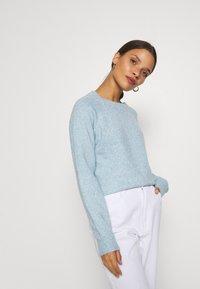 Vero Moda Petite - VMDOFFY NECK BLOUSE  - Pullover - blue - 3