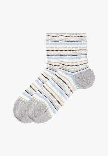 Socks - righe lavorate grigio mel.