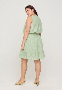 Zizzi - A-line skirt - silt green - 2