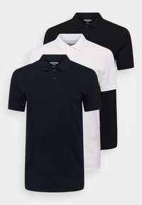 Jack & Jones - JJEBASIC 3 PACK - Koszulka polo - white - 0