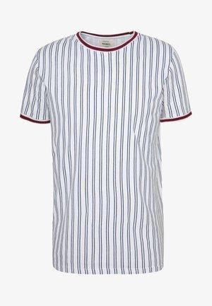 TEE - Print T-shirt - white denim
