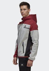 adidas Performance - Zip-up hoodie - grey - 5