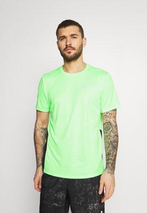 RUN FAVORITE TEE  - Printtipaita - elektro green/black