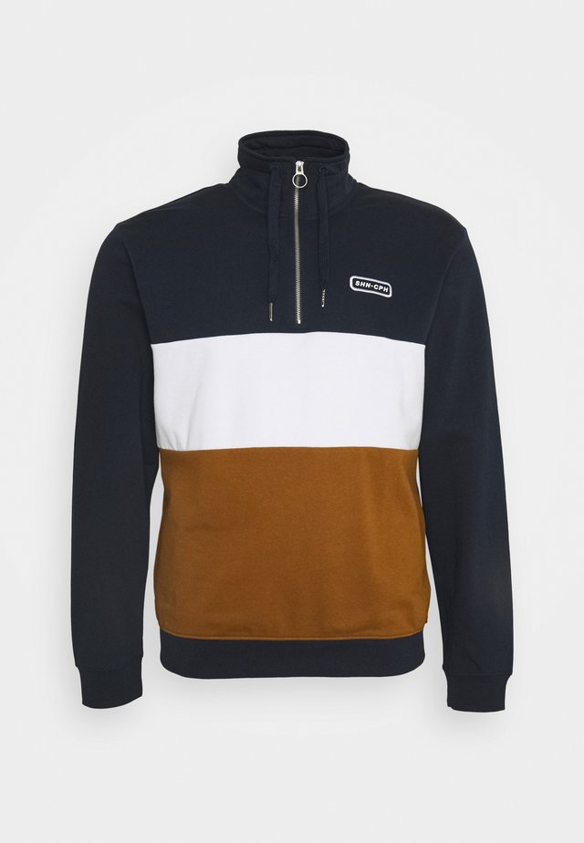 HALF ZIP BLOCK - Sweatshirt - navy