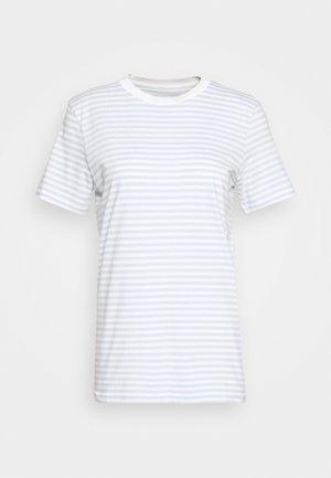 SLFMY PERFECT TEE BOX CUT - Print T-shirt - bright white/xenon blue