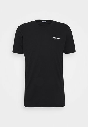 DAVIS REGULAR TEE UNISEX - T-shirt med print - black