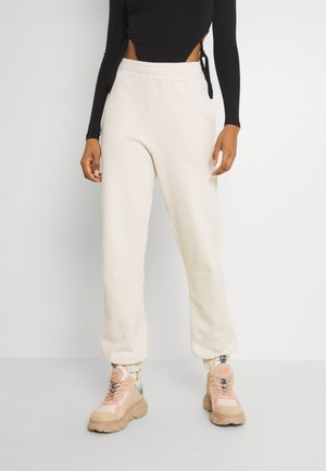 ESSENTIAL HIGH WAIST JOGGERS - Teplákové kalhoty - beige