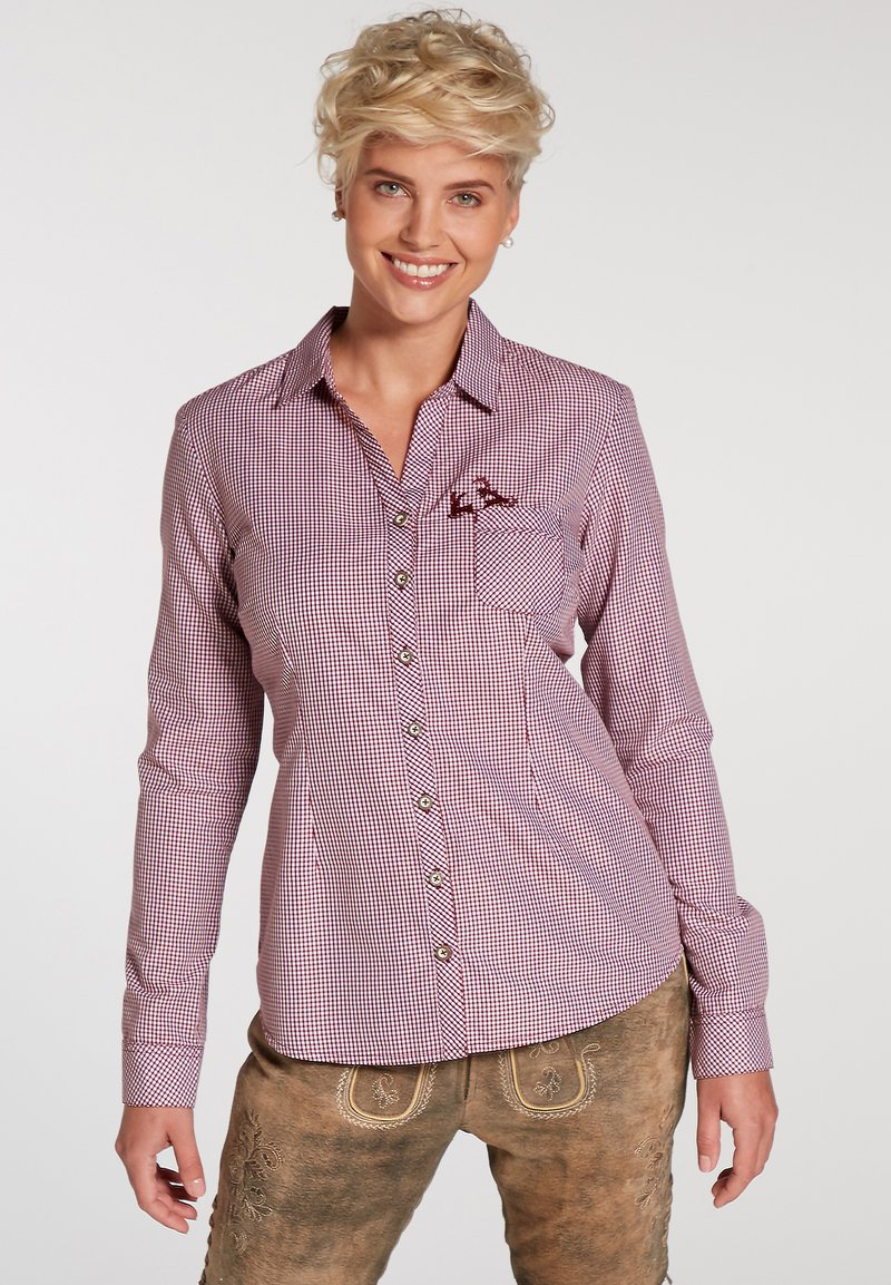 Spieth & Wensky - Button-down blouse - dunkelrot