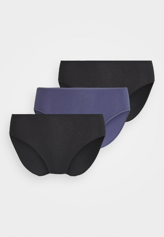 3 PACK - Underbukse - black/blue