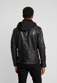 Oakwood - DRINK - Leather jacket - black - 2