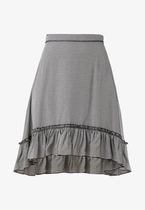 A-line skirt - black /white