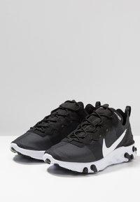 Nike Sportswear - REACT - Sneakers - black/white - 4